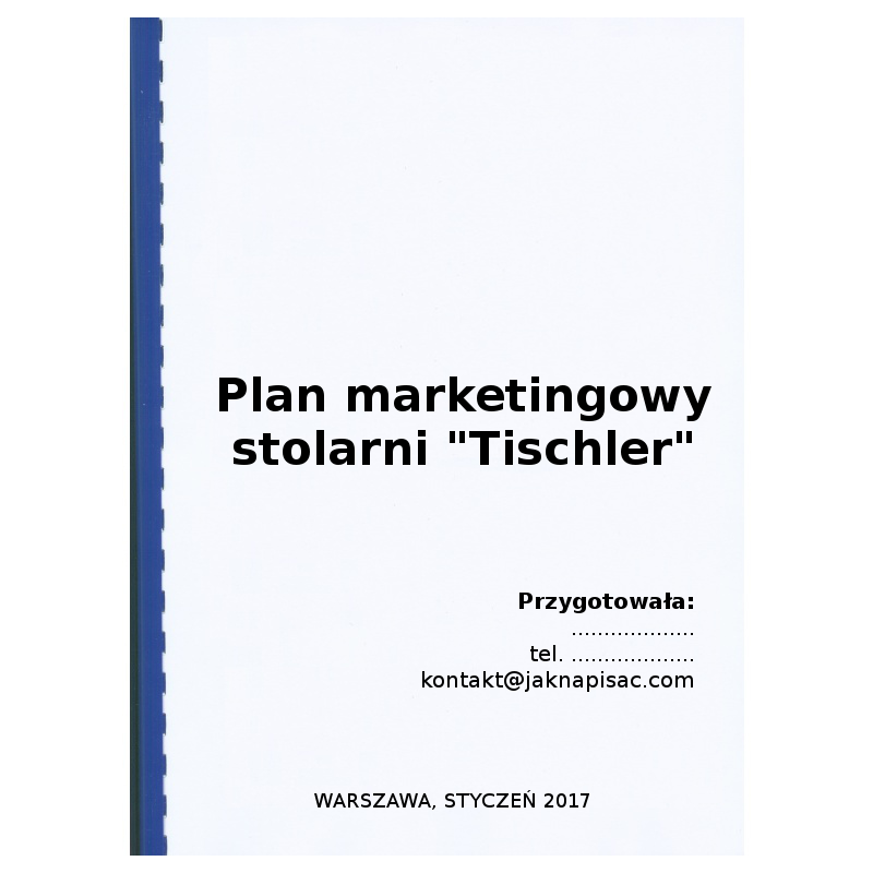 "Plan marketingowy stolarni ""Tischler"""