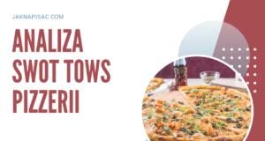 """Analiza SWOT TOWS pizzerii """"Fabiano"""""""