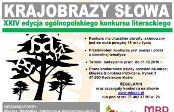 XXIV edycja ogólnopolskiego konkursu literackiego Krajobrazy Słowa