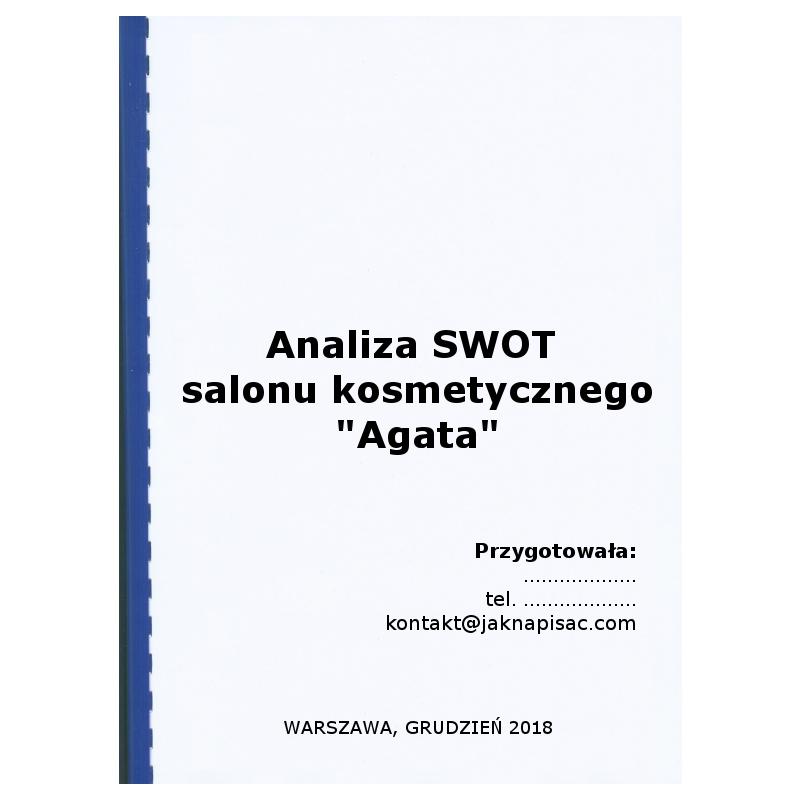 """Analiza SWOT salonu kosmetycznego """"Agata"""""""