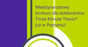 Konkurs Three Minute Thesis