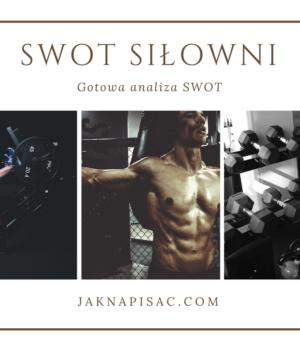 """Analiza SWOT siłowni """"Rzeźba"""""""