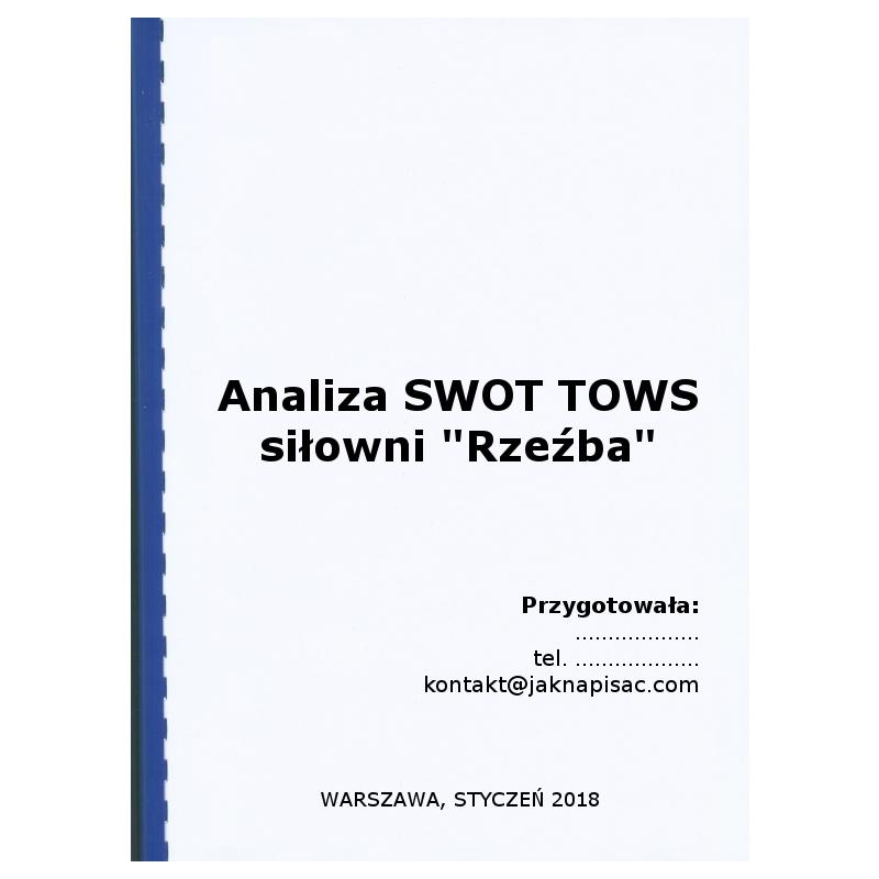 """Analiza SWOT TOWS siłowni """"Rzeźba"""""""