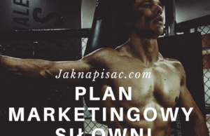 "Plan marketingowy siłowni ""Rzeźba"""