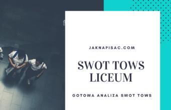 Analiza SWOT TOWS Liceum Ogólnokształcącego