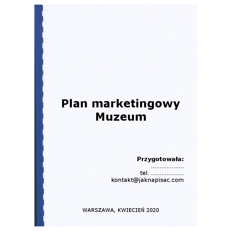 Plan marketingowy muzeum