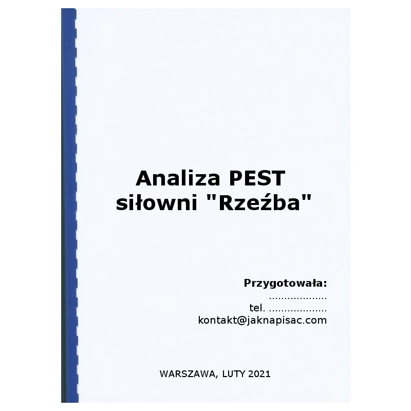 """Analiza PEST siłowni """"Rzeźba"""""""
