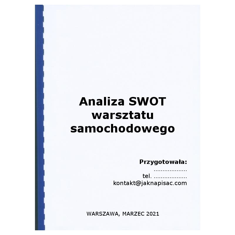 """Analiza SWOT warsztatu samochodowego """"Primo"""""""